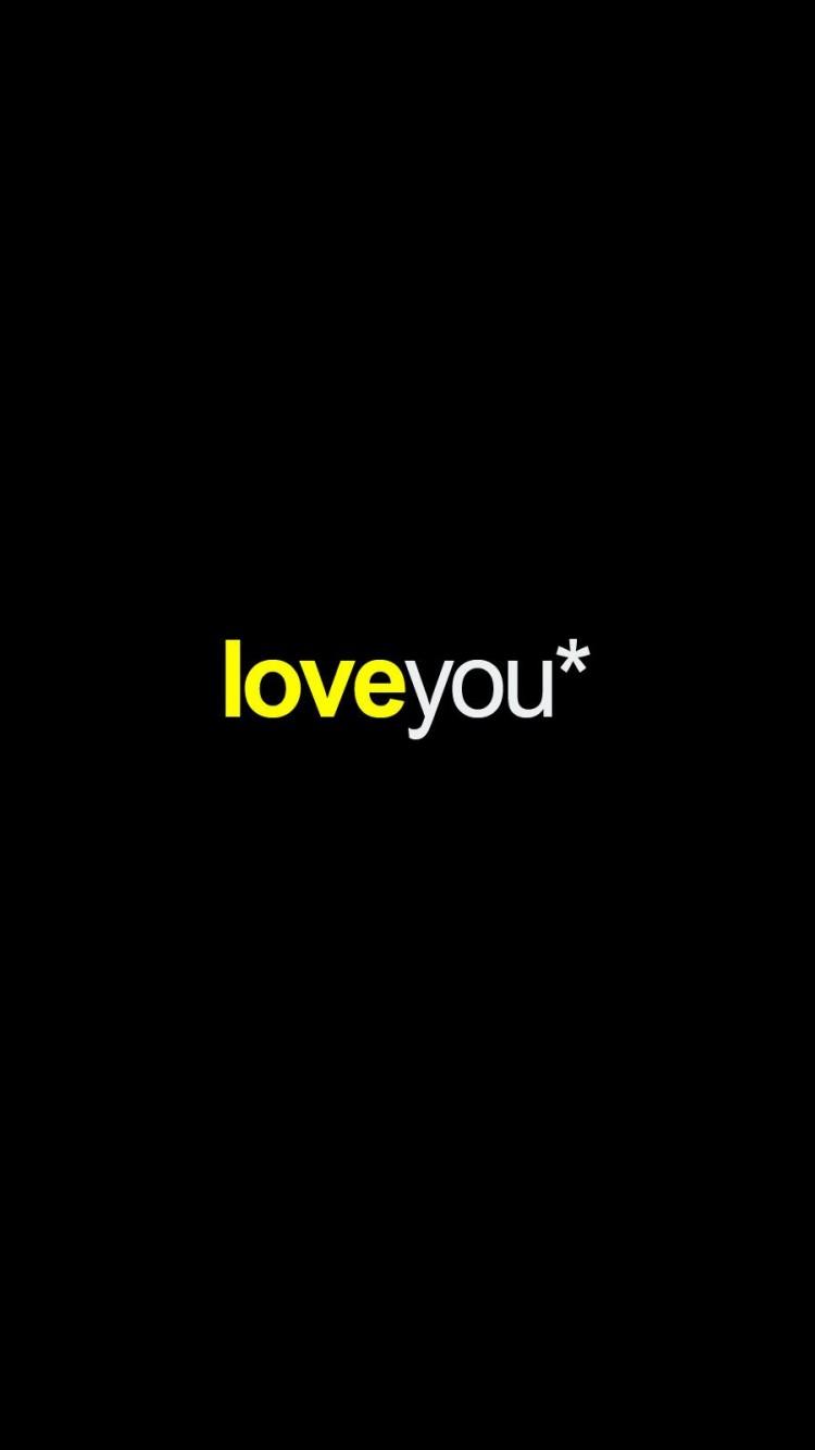 Love You Black Background   iPhone 6 HD Wallpaper 750x1334 750x1334
