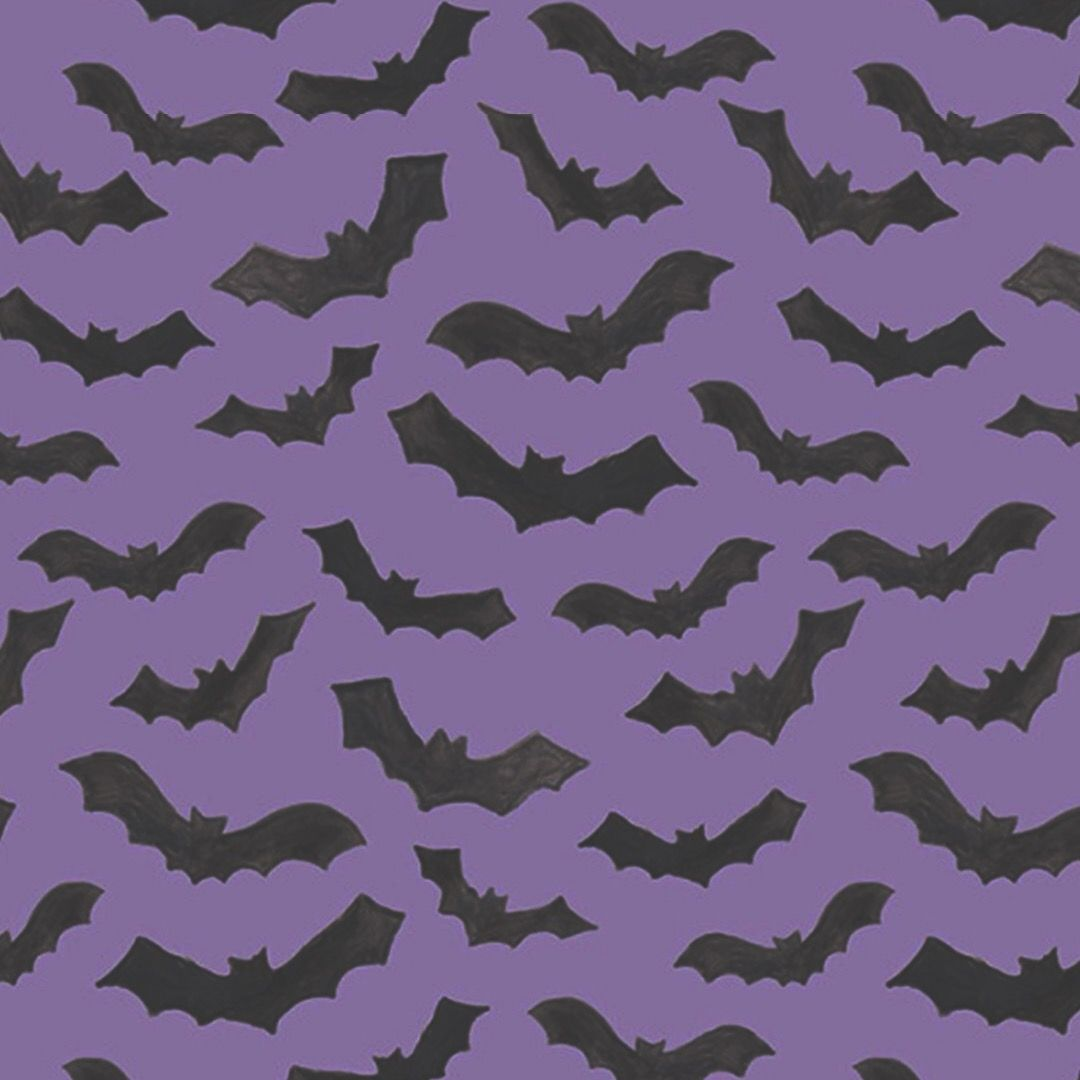 Pastel Goth Bats Wallpaper Pattern PrintsPatterns Halloween 1080x1080