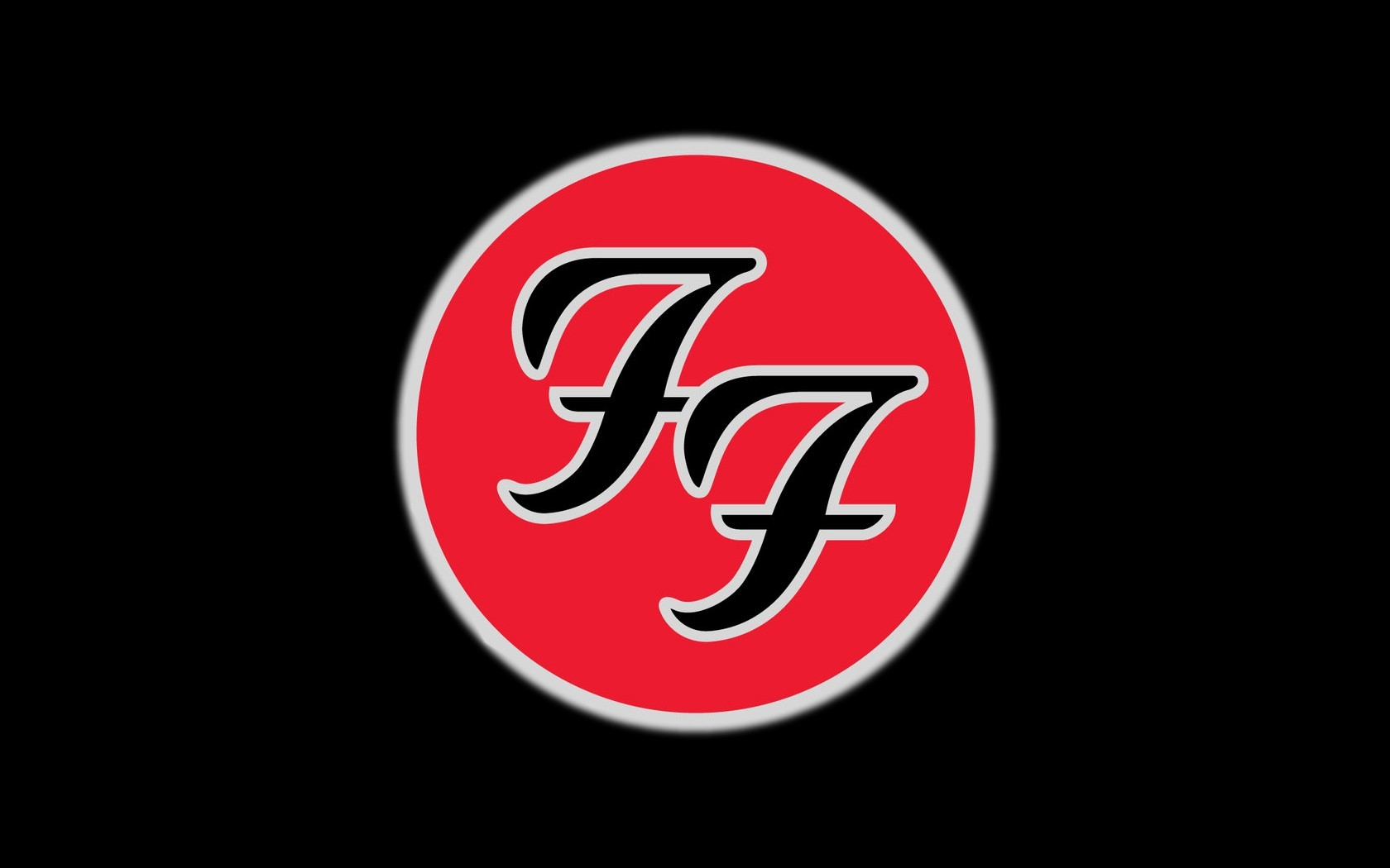 Download Wallpaper 1680x1050 foo fighters symbol icon cicle 1680x1050