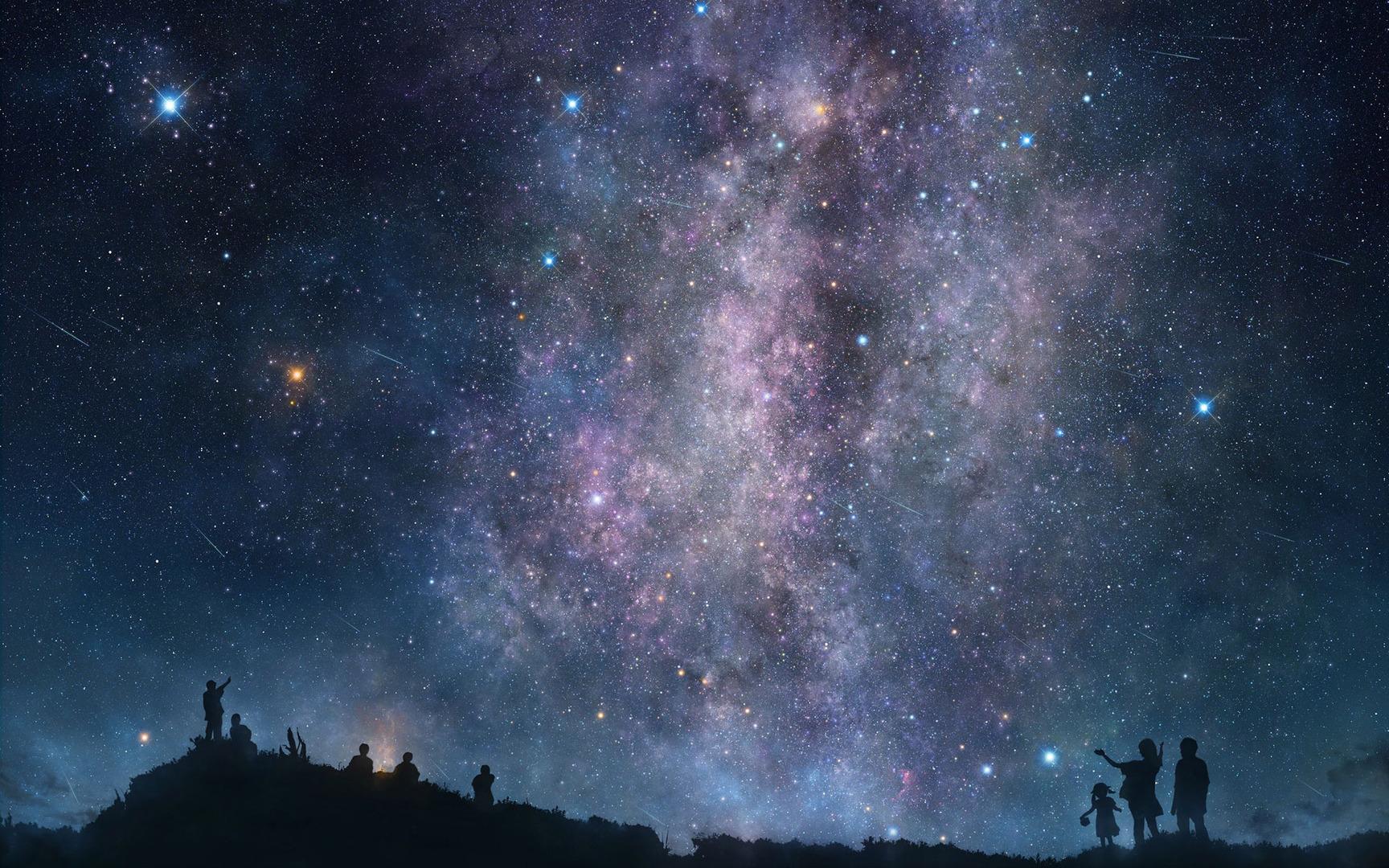 Night sky wallpaper 18397 1728x1080
