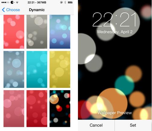 Unlock Hidden Dynamic Wallpapers in iOS 7 505x435