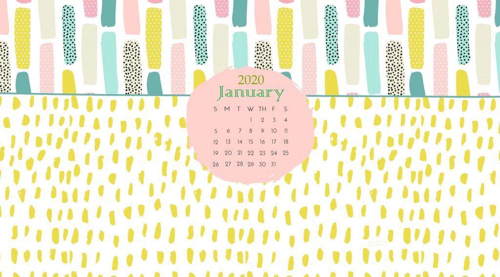 January 2020 Wallpaper with Calendar Calendar wallpaper Desktop 1024x568
