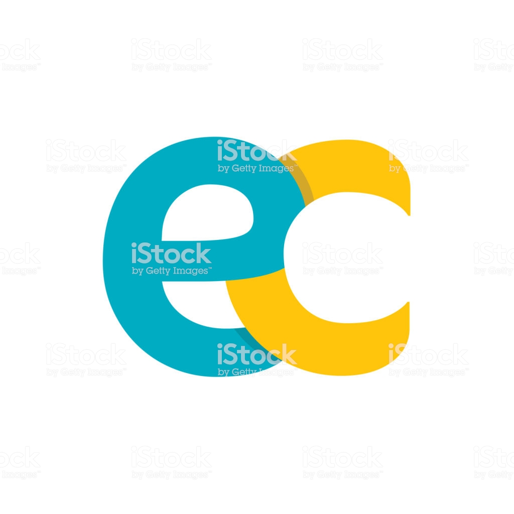 Ec Logo Isolated On White Background Colorful Vector Icon Brand 1024x1024