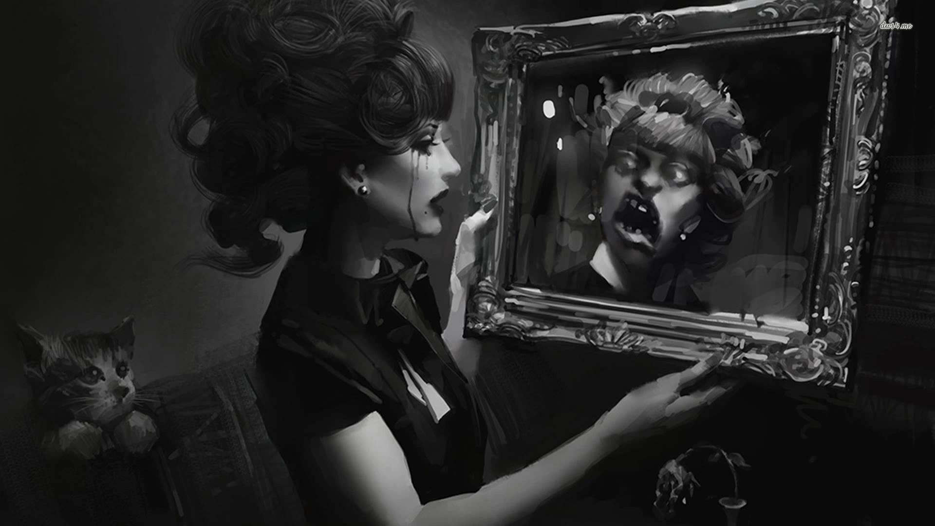 Reflective mirror wallpaper wallpapersafari for Mirror wallpaper