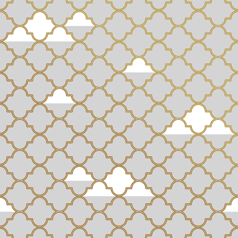 Grey and Gold Clouds Removable Wallpaper by Tempaper 800x800