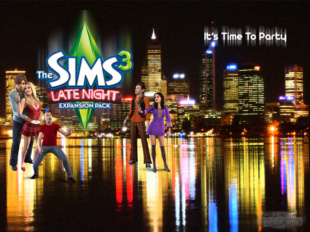 The sims 3 late night wallpaper   The Sims 3 Late Night Wallpaper 1024x768
