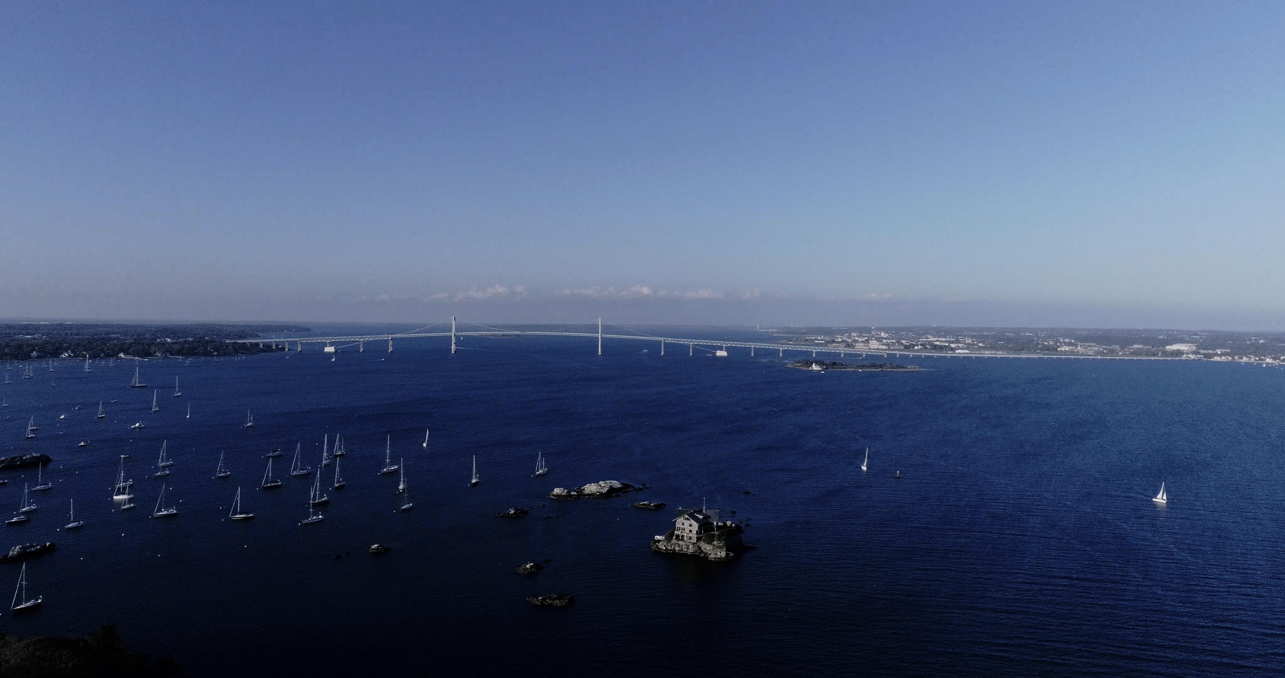 Newport Bridge 3 Rhode Islands best 4K UHD Aerial Wallpaper Images 4096x2160