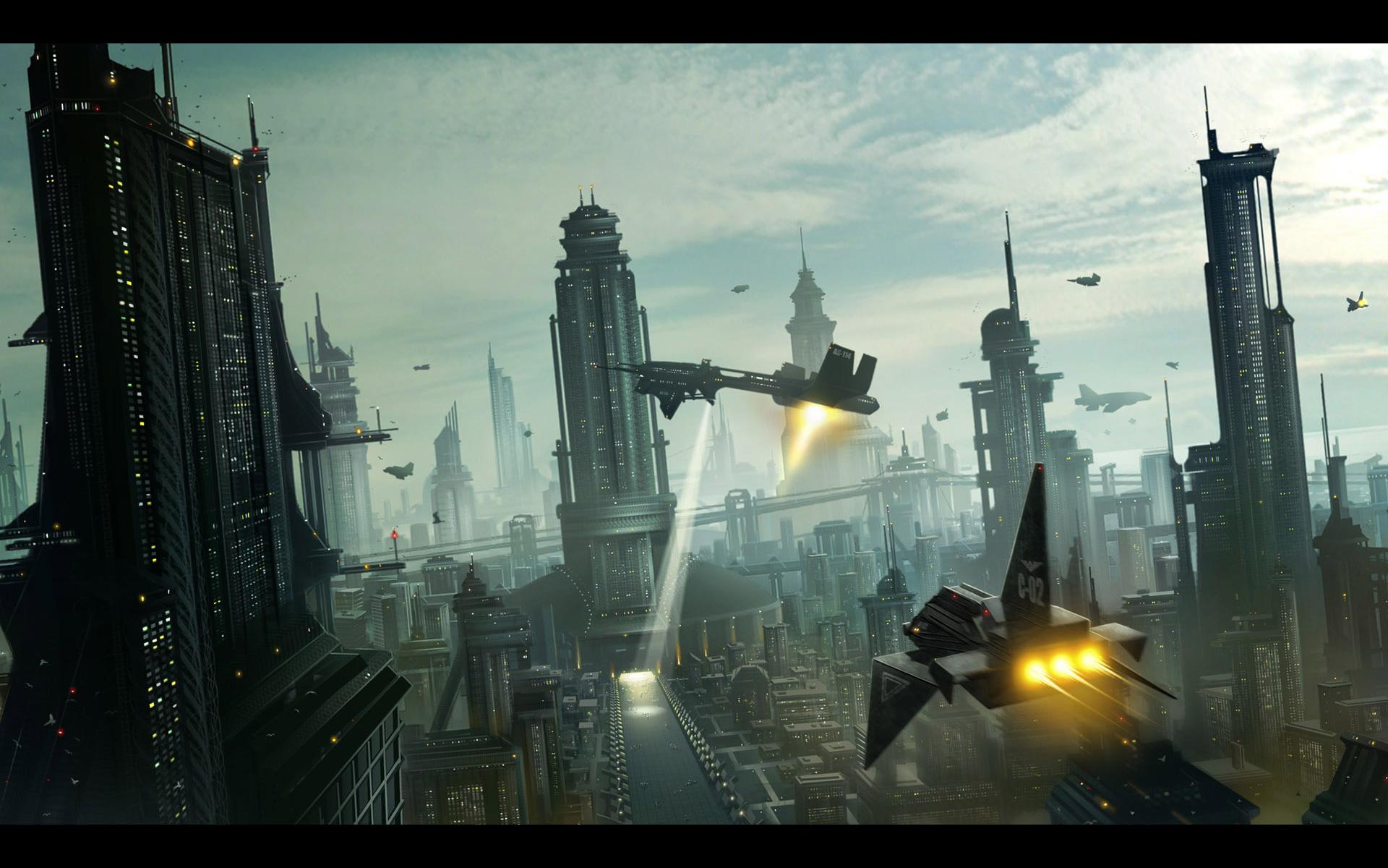 Futuristic City Wallpaper Hd