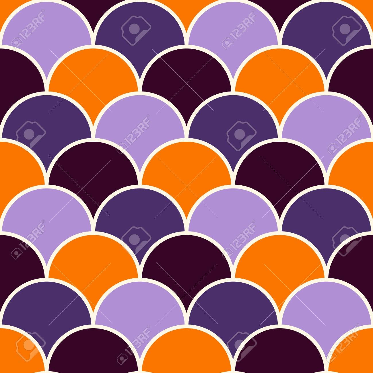 Fish Scale Wallpaper In Halloween Traditional Colors Asian 1300x1300