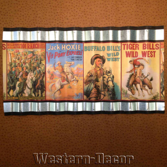 Wild Western Buffalo Bill Pony Express Wallpaper Border Picture eBay 640x640