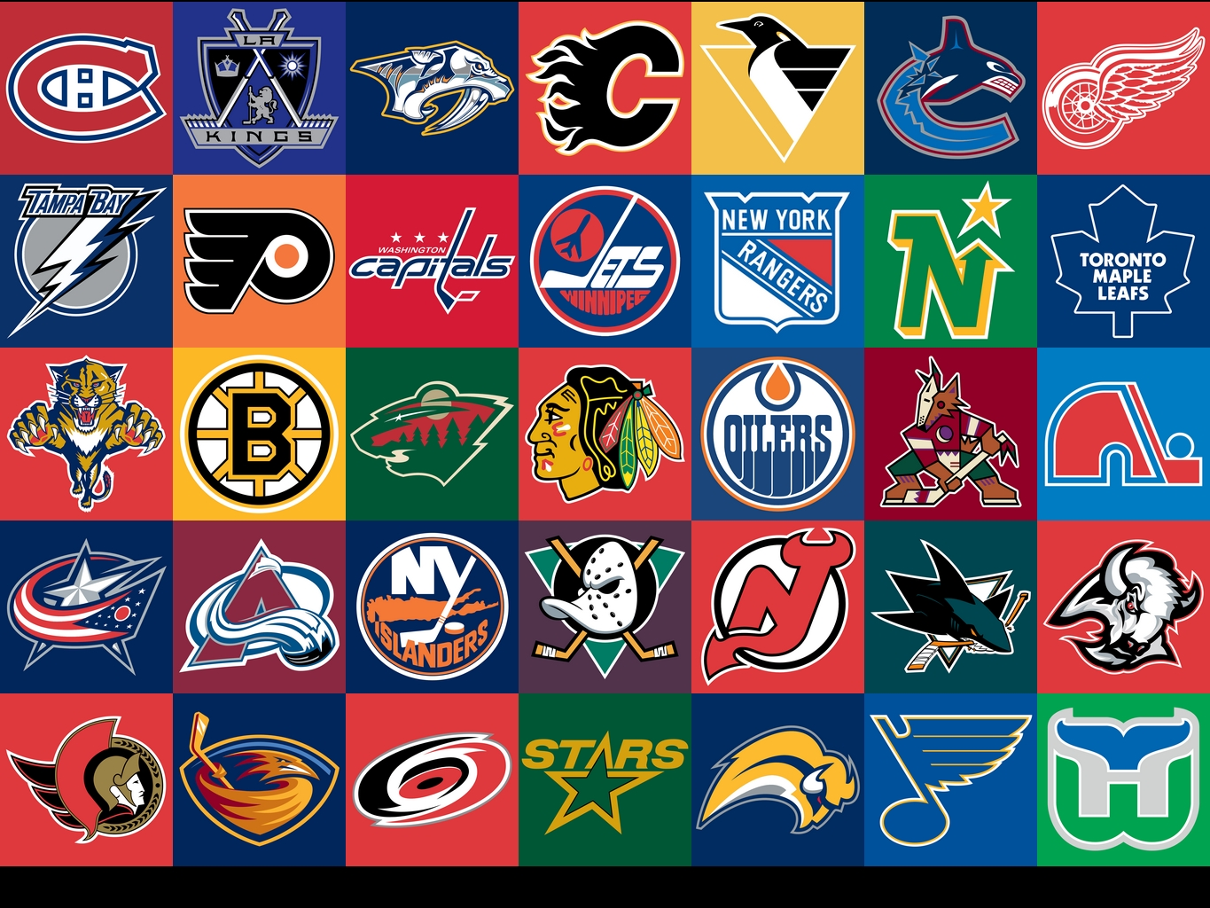NHL Logo Collection 1365x1024