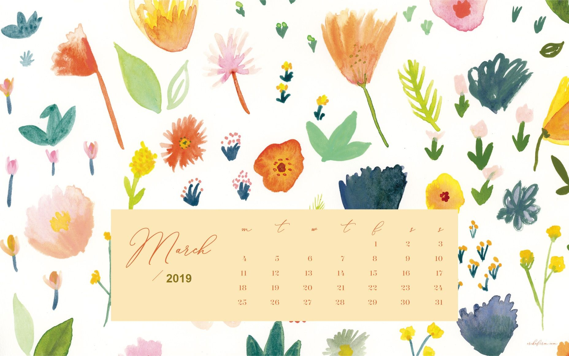 March 2019 Calendar Floral Background calendar 2019 Pinterest 1856x1161