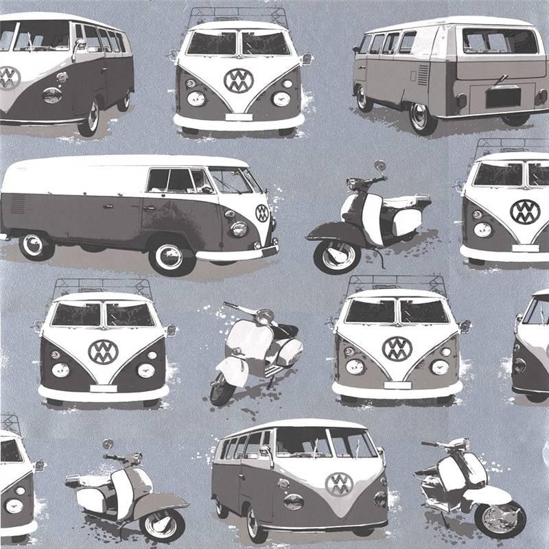 Grey   J05909   VW Volkswagen Camper Vans Scooters   Muriva Wallpaper 800x800