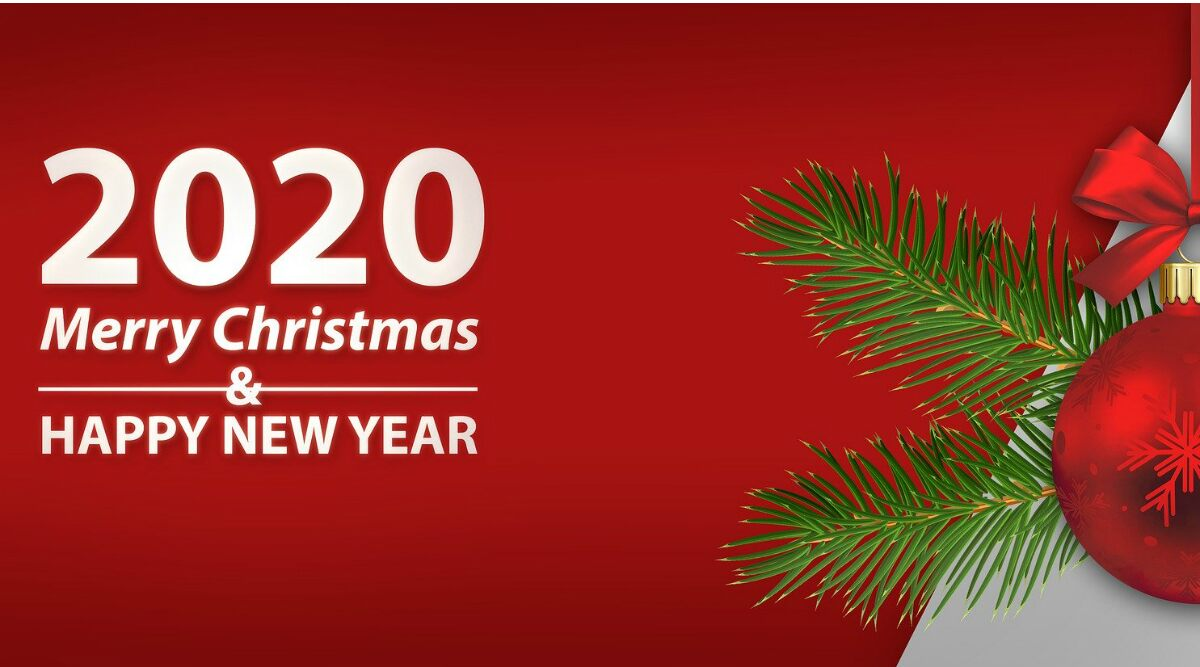 Merry Christmas and Happy New Year 2020 Wishes HD Images 1200x667