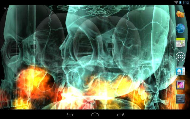 Skull Fire Live Wallpaper Aplikacje Android w Google Play 640x400