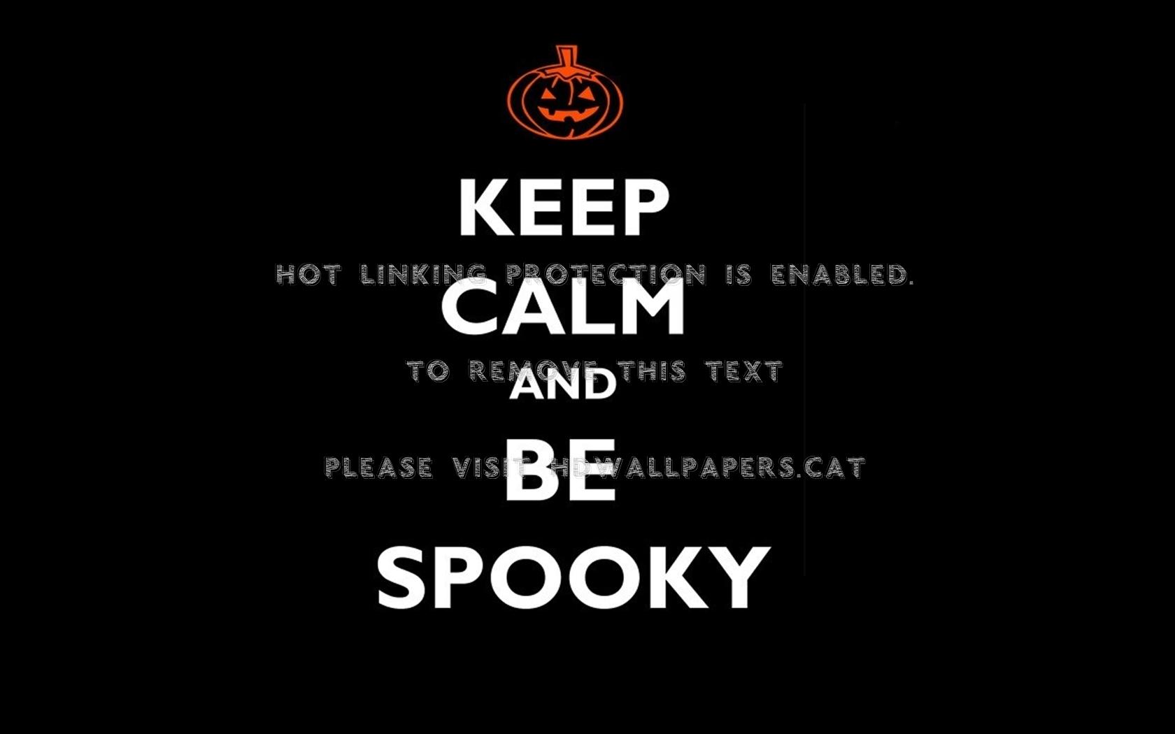 halloween pumpkin spooky orange keep calm 1680x1050