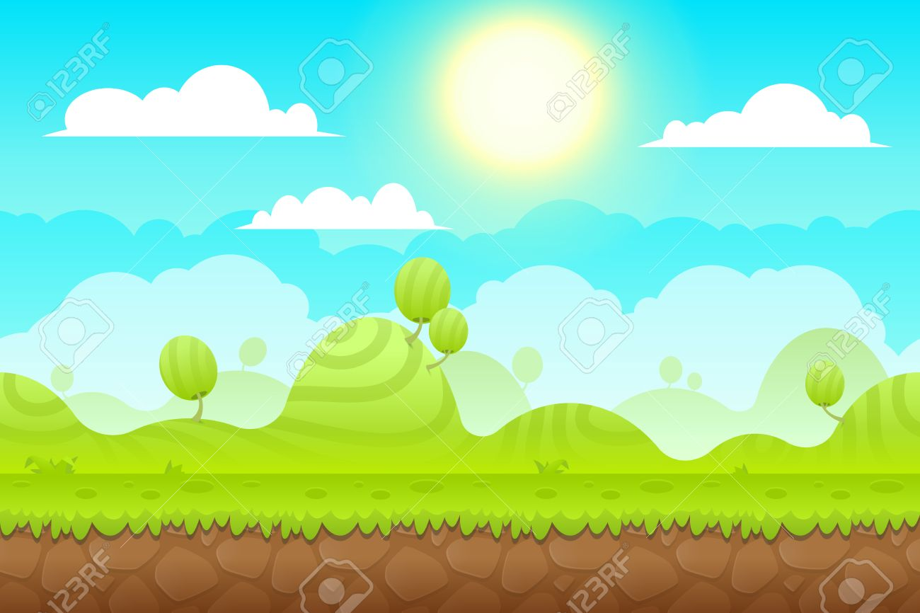 Game Background Made From Seamless Endless Elements Vector Assets 1300x866