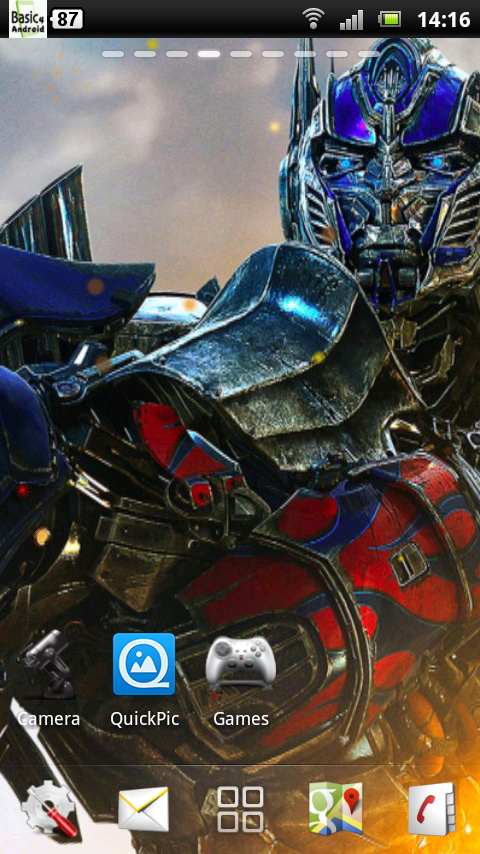 the Transformers 4 Live Wallpaper 2 for Android 480x854