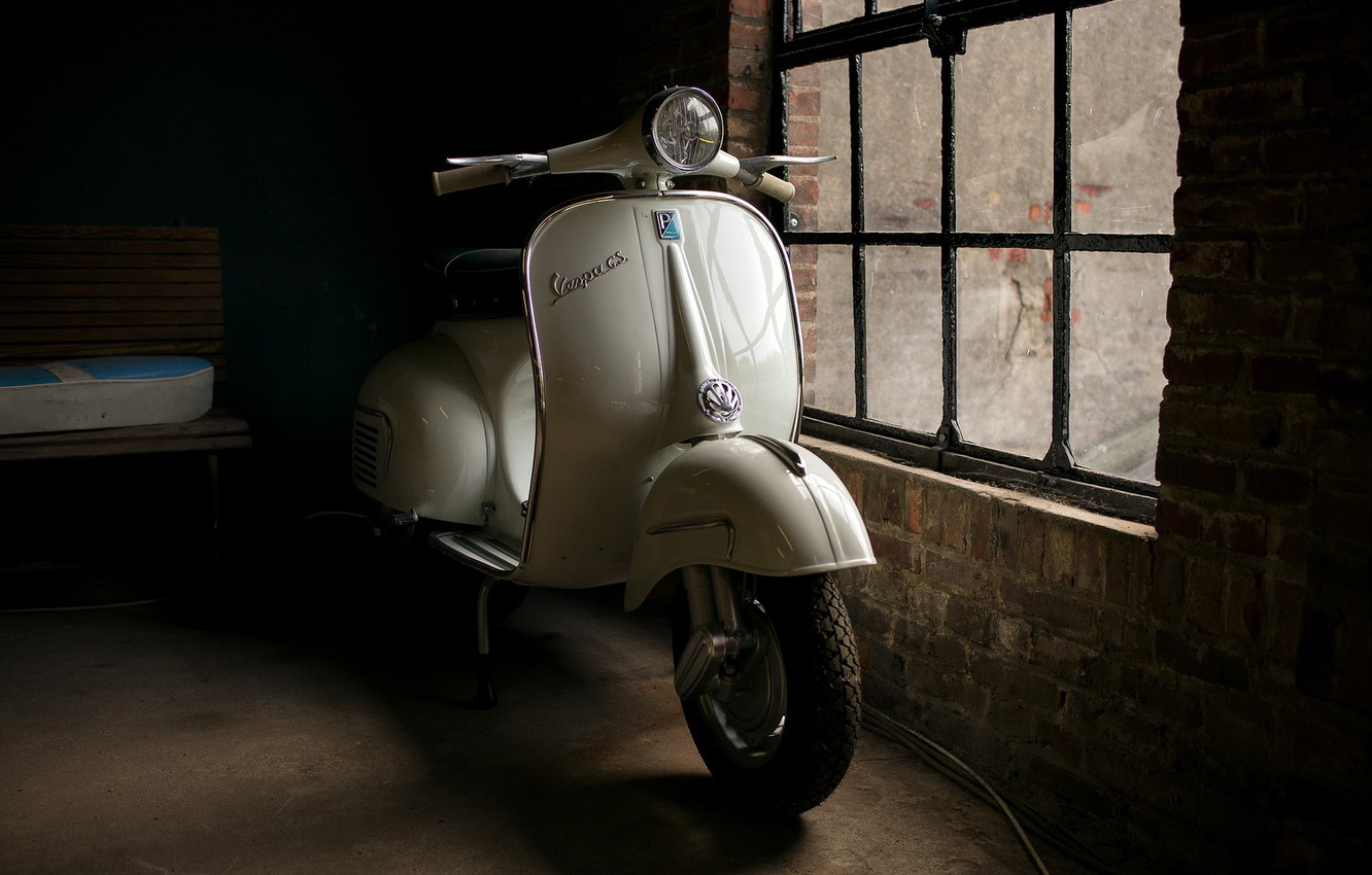 Wallpaper background a scooter Vespa GS images for desktop 1332x850