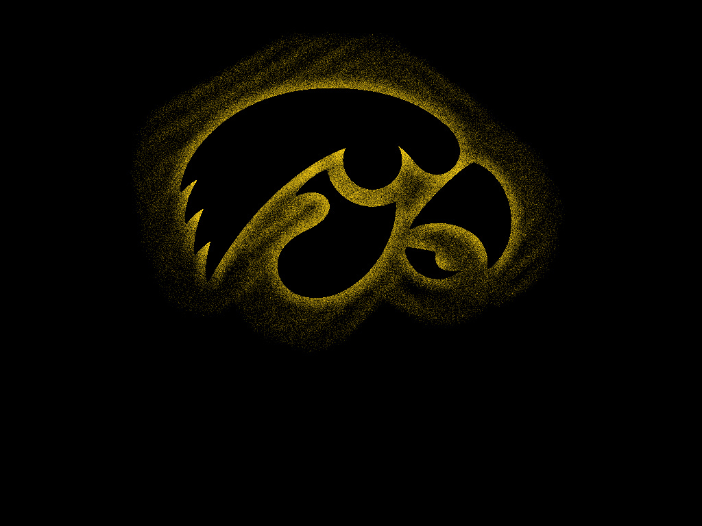 Iowa Hawkeyes Spray Paint Stencil Style Logo by cfalc0n 1024 x 1024x768
