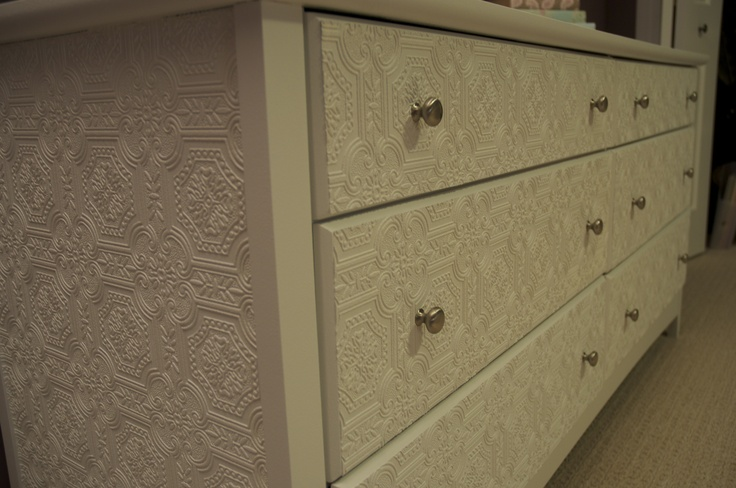 Dresser Redo Paintable wallpaper from Canadian Tire Adhere it to the 736x488