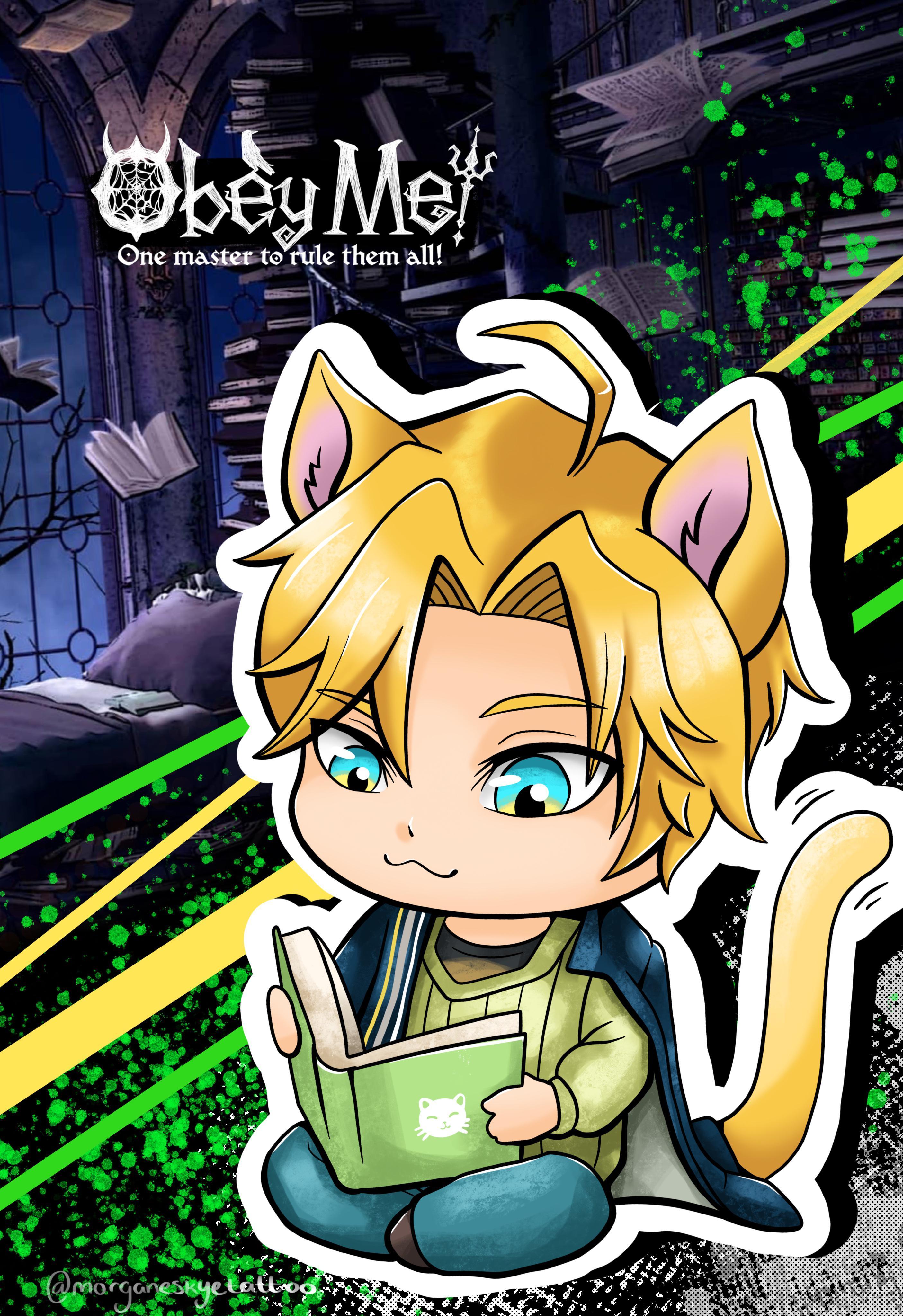 Satan cat day wallpaper obeyme 2810x4096
