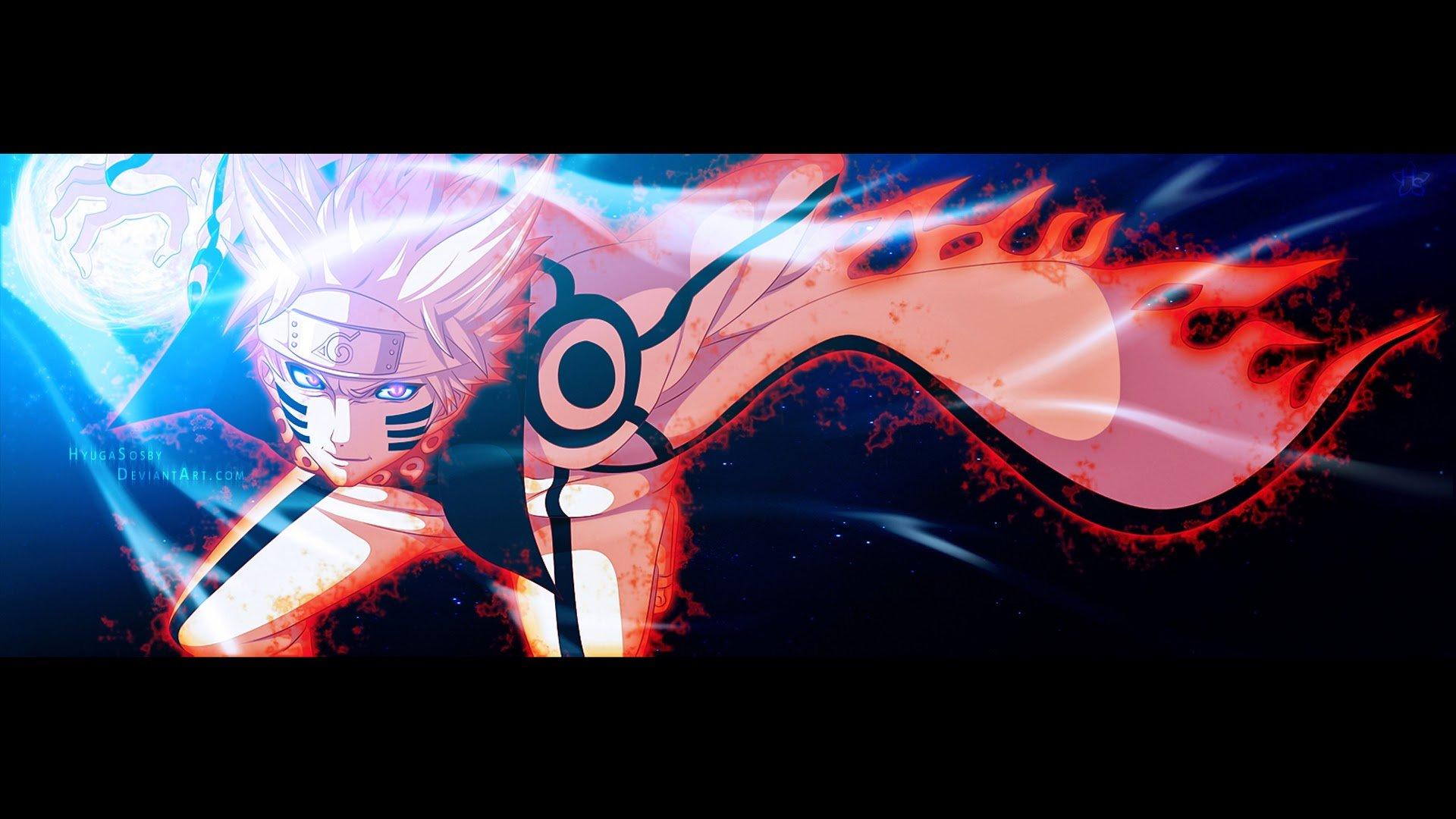 Naruto Kyuubi Sage Mode 3m Wallpaper HD 1920x1080