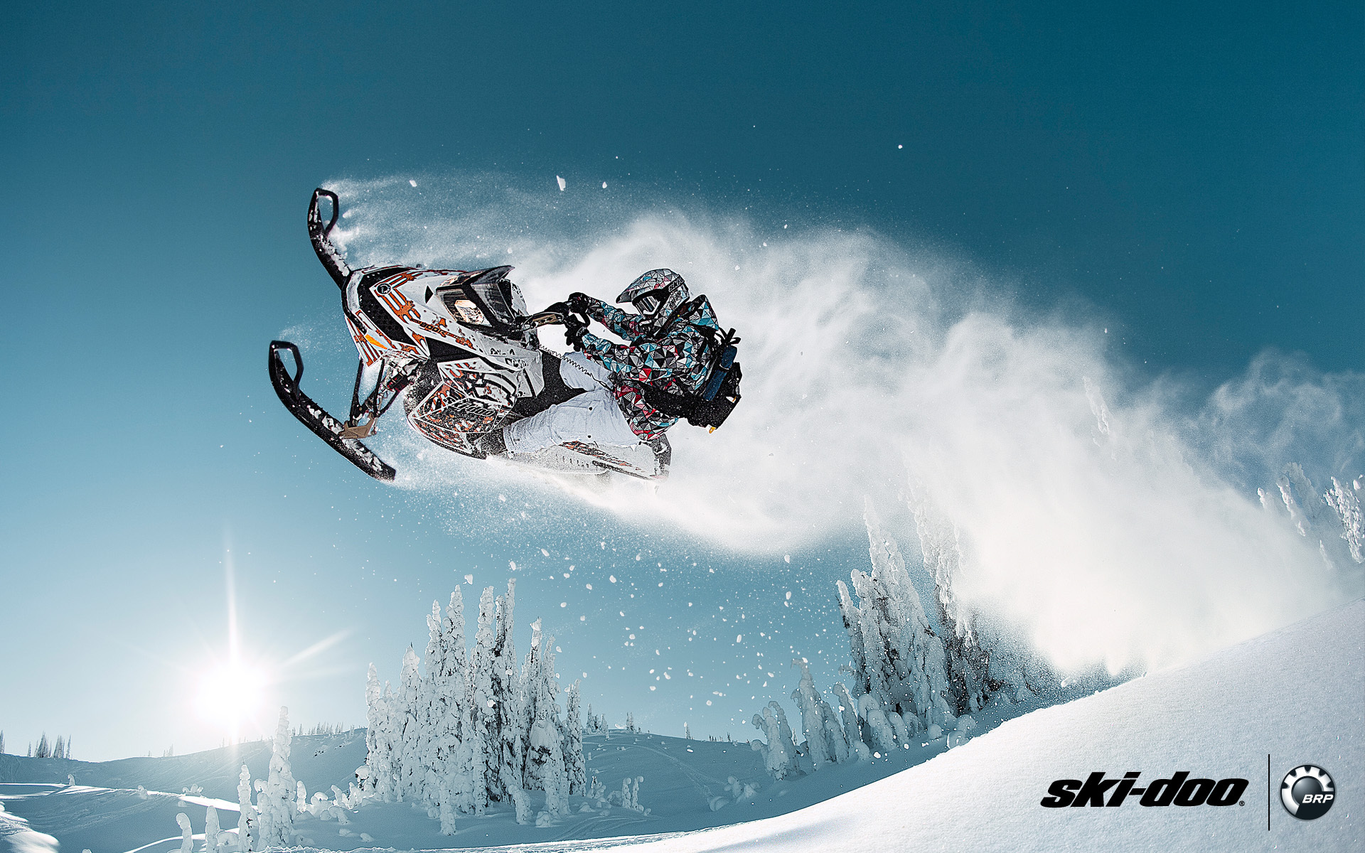 BRRP snowmobile ski doo ice mountain sport sunsire flight 1920x1200