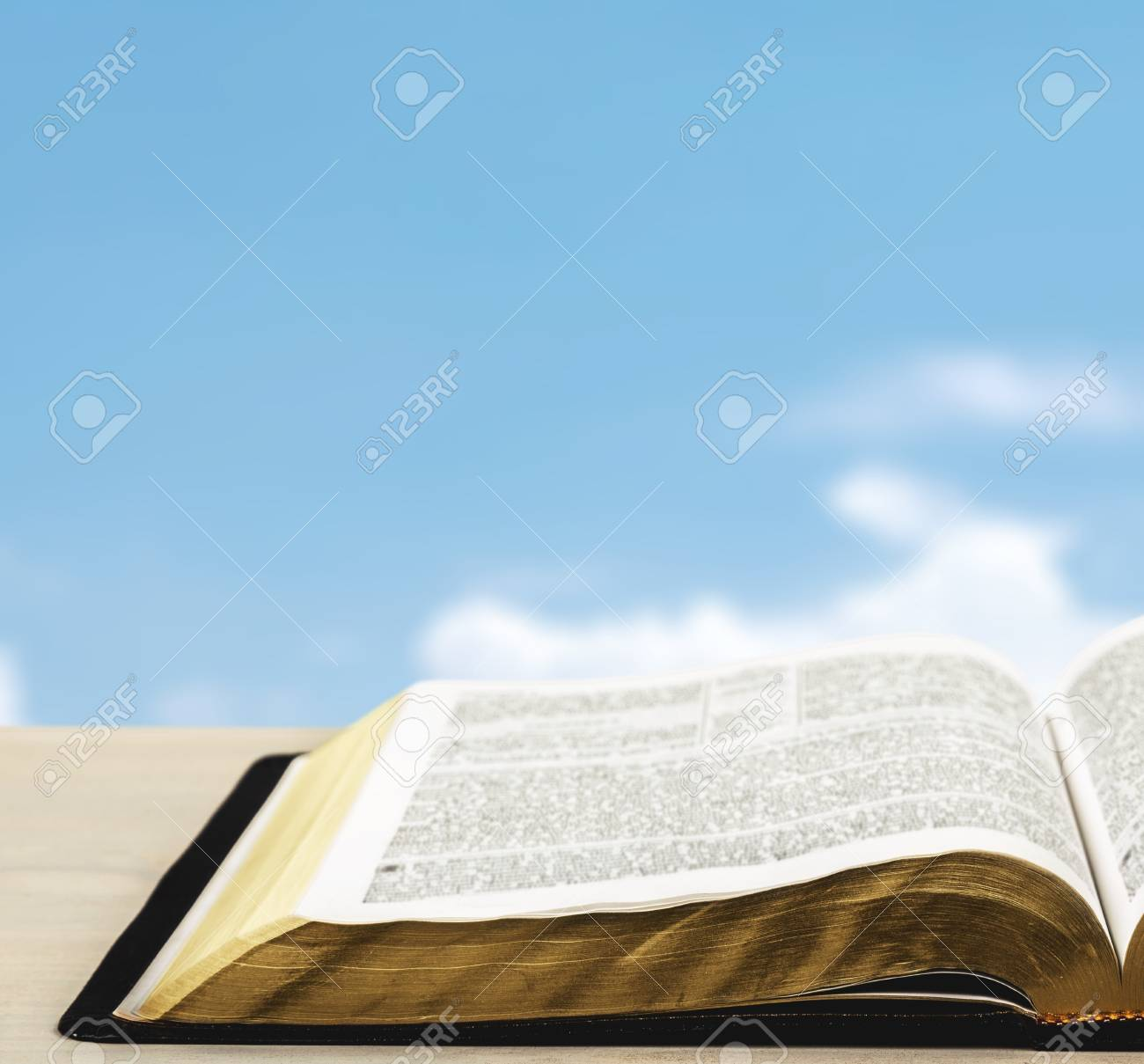 Open Holy Bible Book On Light Background Stock Photo Picture And 1300x1209