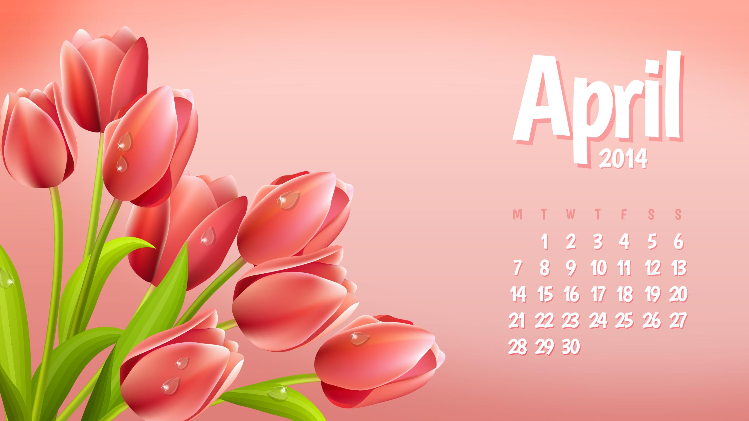 Wallpaper Calendar April 2014   Szabokacom   Szabokacom 2560x1440