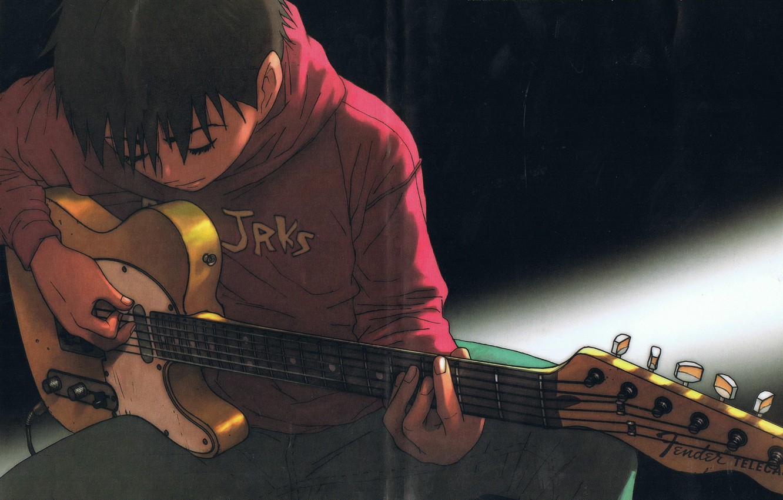 Wallpaper guitar guitar fun fender telecaster Tanaka Yukio 1332x850