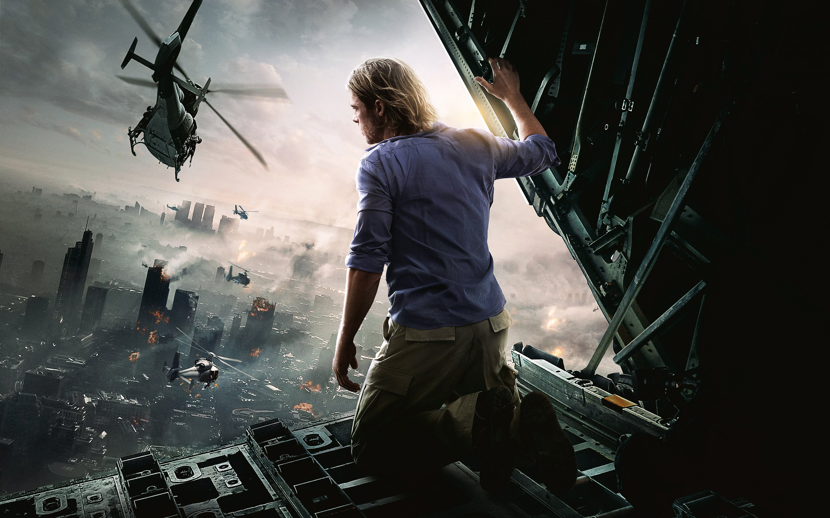 Brad Pitt World War Z Movie Wallpapers HD Wallpapers 2880x1800