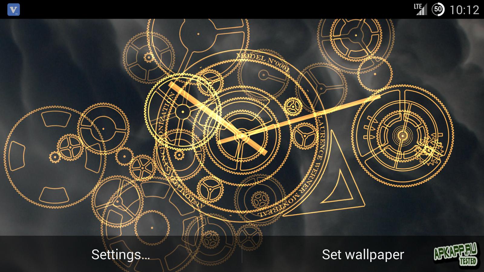 Hypno Clock Live Wallpaper 1600x900