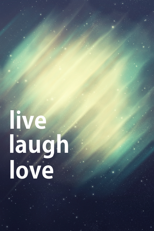 Iphone Wallpaper live laugh love We Heart It 500x750