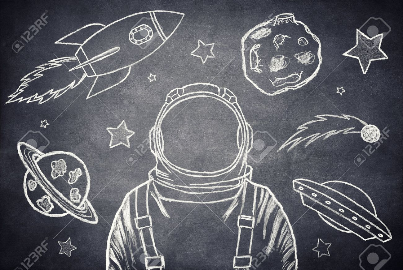 Empty Suit Astronaut On A Background Of Outer Space Stock Photo 1300x873