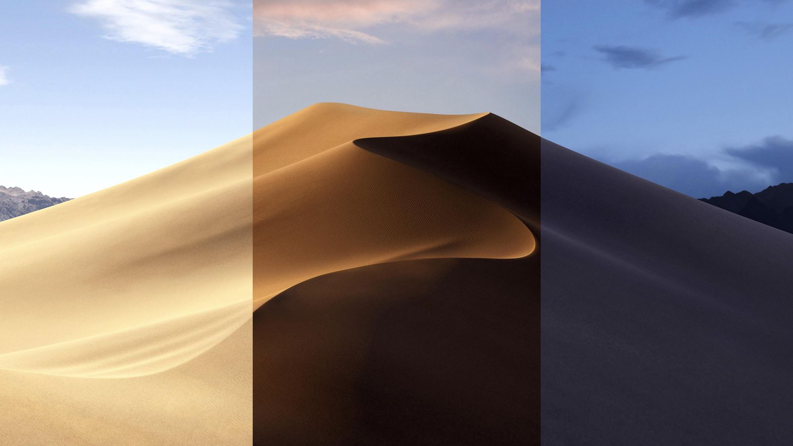 Get MacOS Mojaves awesome Dynamic desktop wallpaper without 1600x900