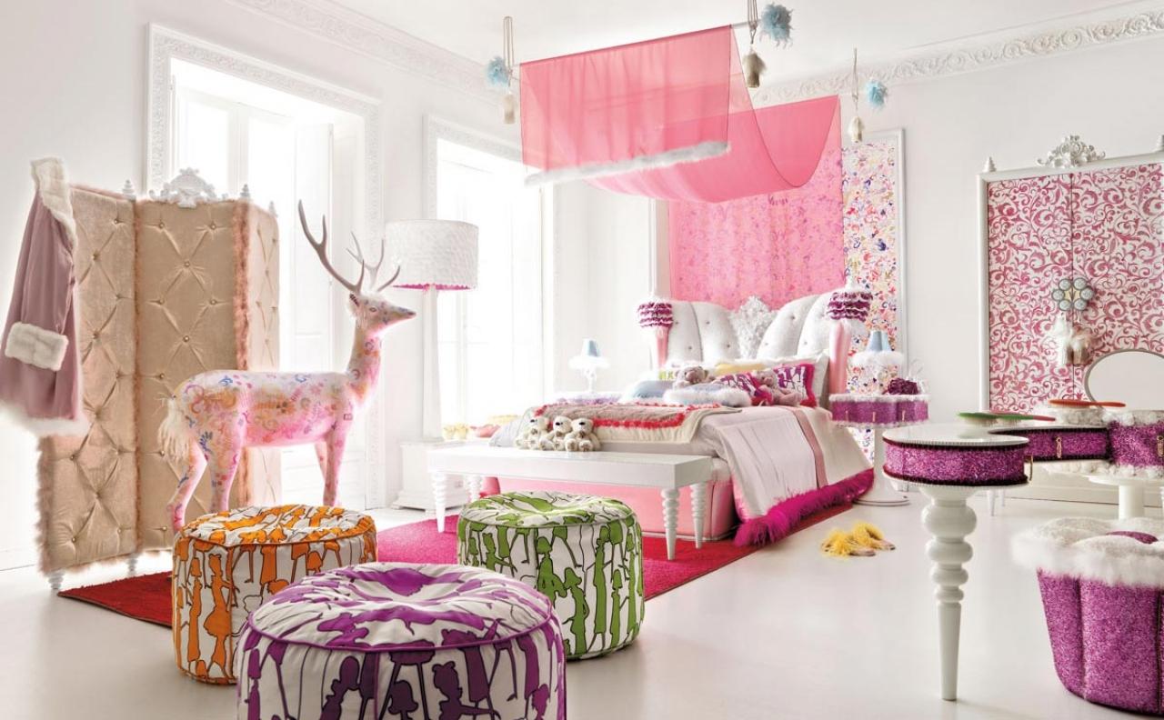 Design interior design stylish pink teen girls room wallpaper 1280x792