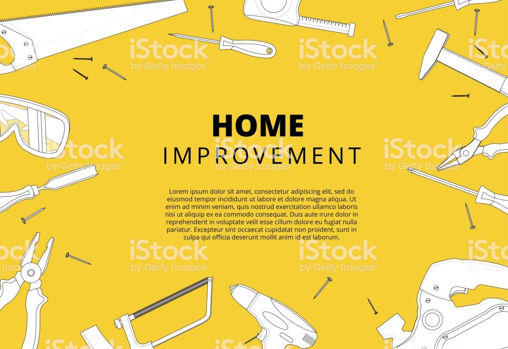 Home Improvement Background With Repair Tools House Constructio 1024x704
