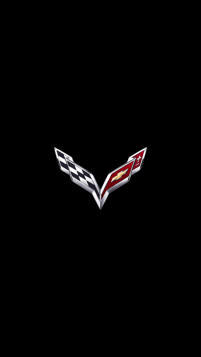 Corvette Logo iPhone 5 Wallpaper 640x1136 640x1136