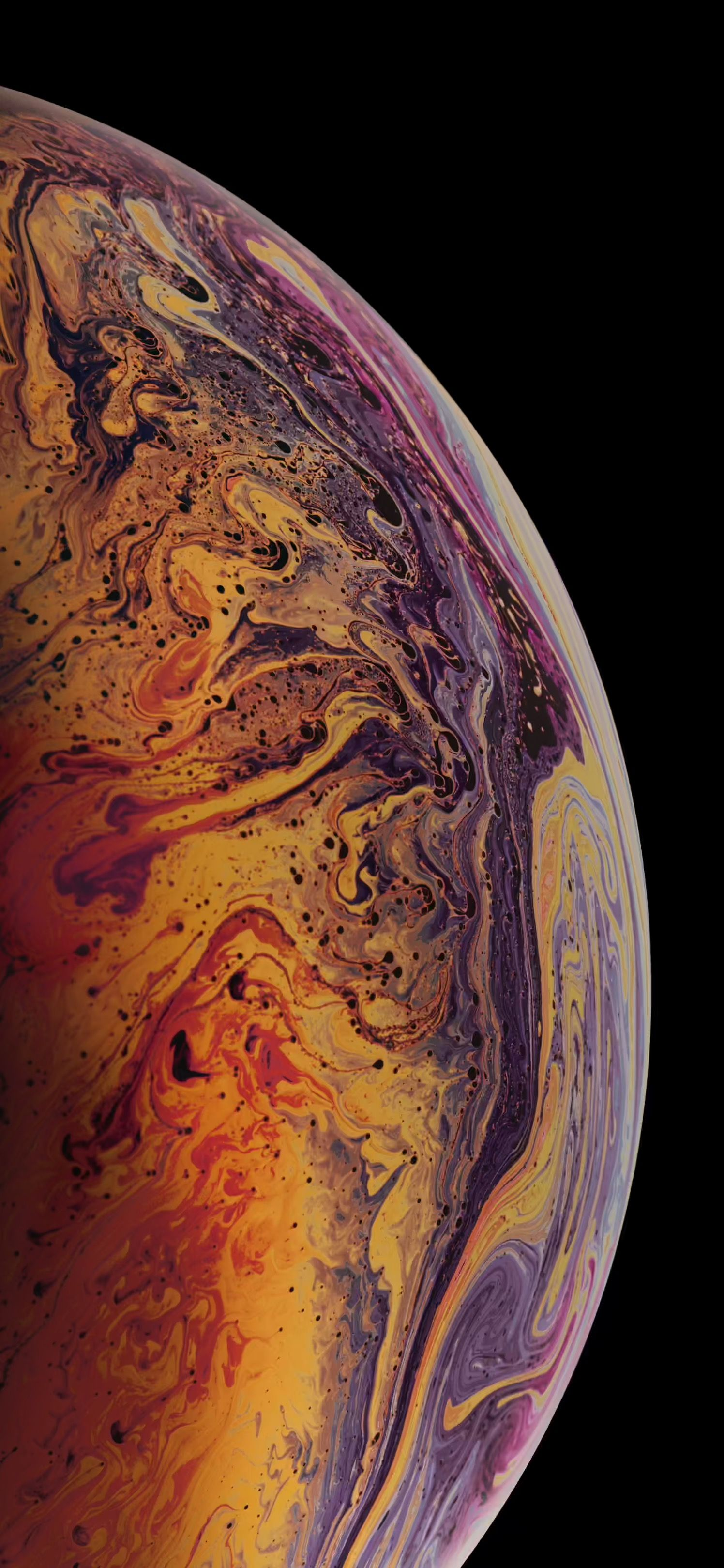 Download the 3 iPhone XS Max Wallpapers of Bubbles OSXDaily 1496x3238