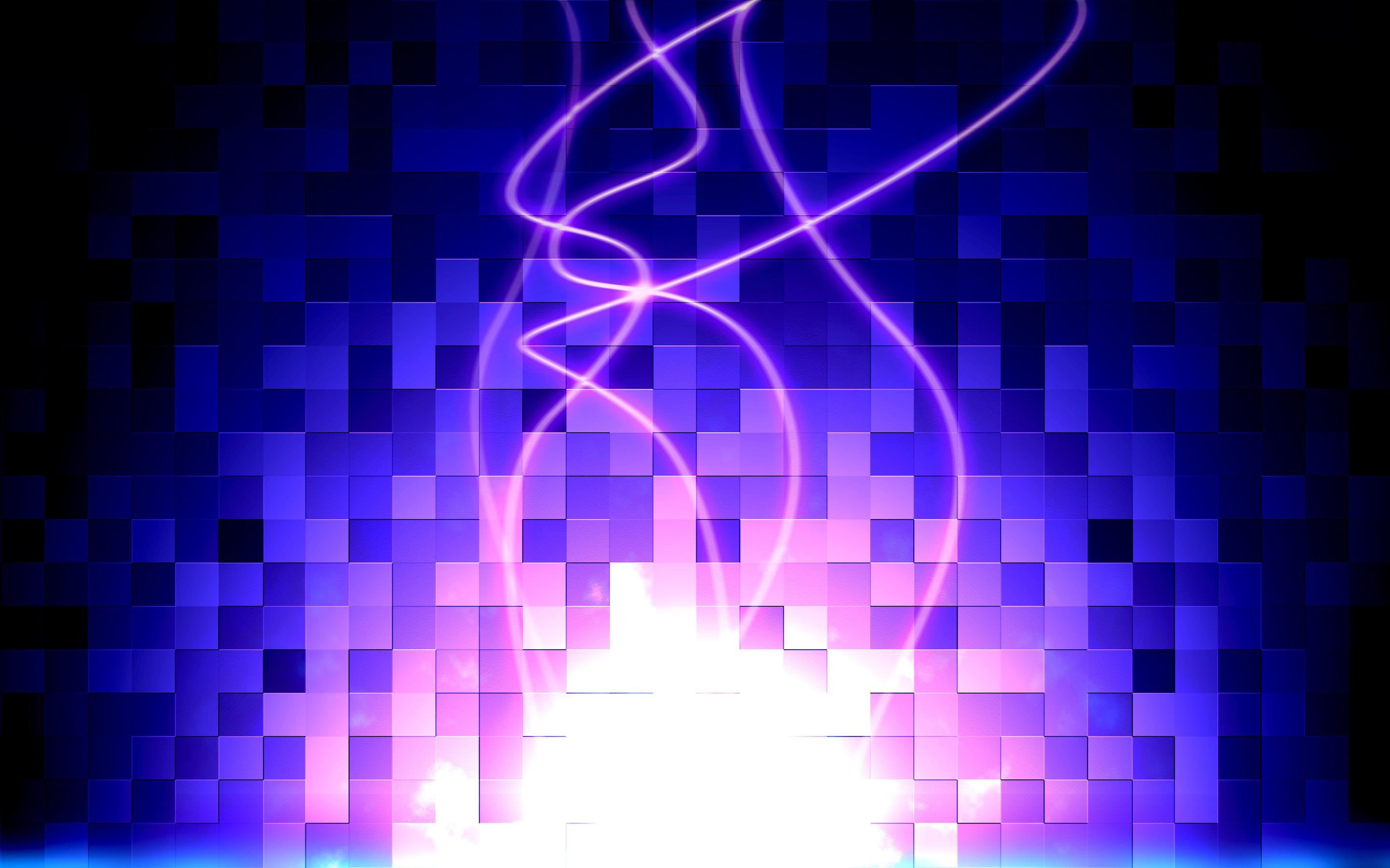 Purple Blue Abstract Cubes 3D Background Wallpaper 5455 HD 2880x1800