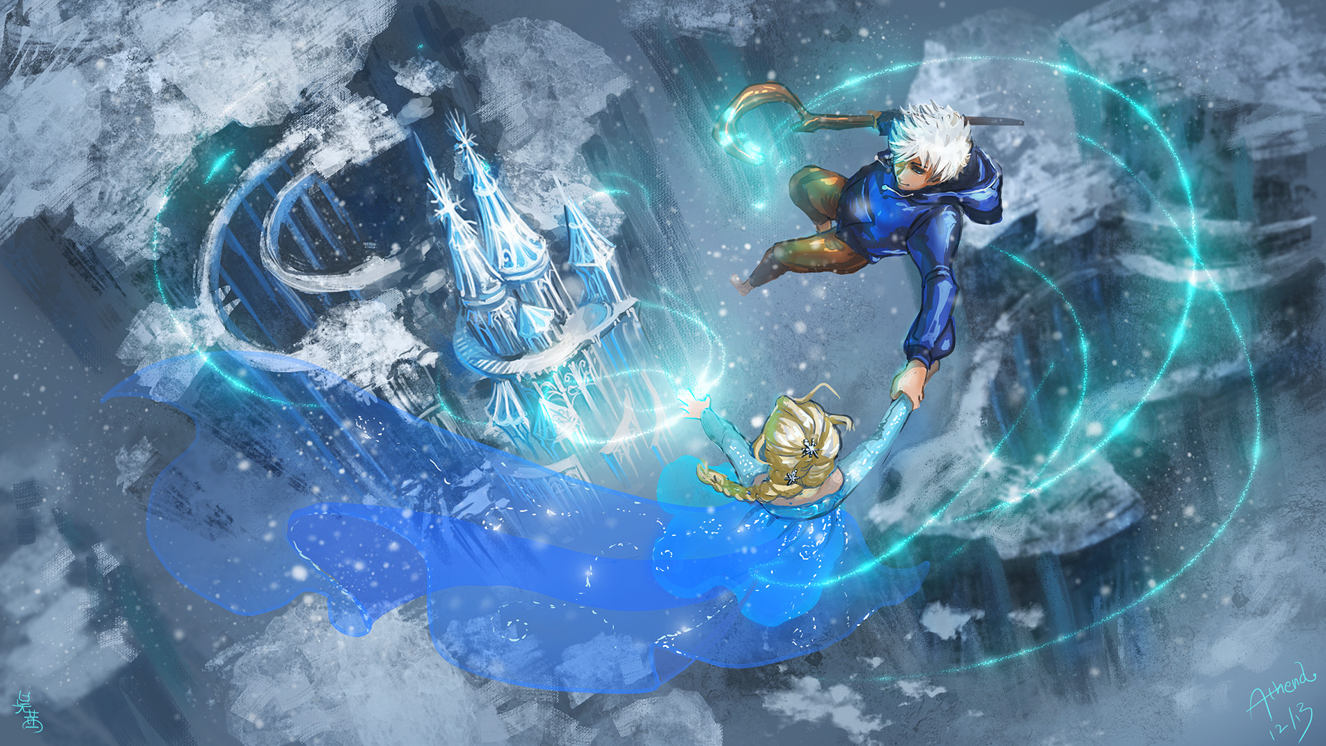 Elsa and jack frost wallpapers wallpapersafari elsa and jack frosta song of ice and frost by athena erocith on 1920x1080 thecheapjerseys Gallery