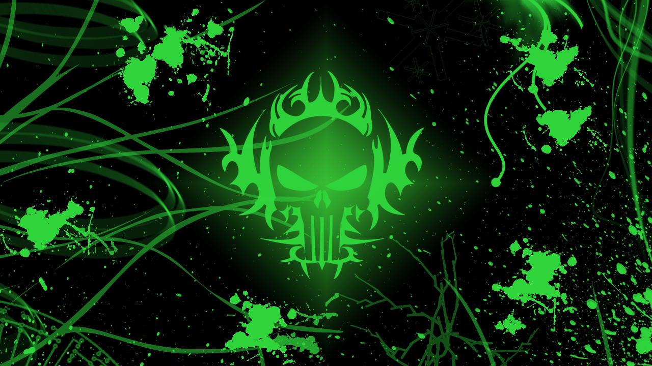 Green skull wallpaper by LastKnownMeal 1280x720