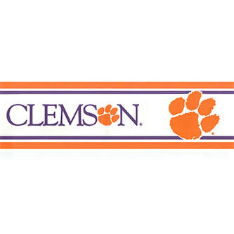 NCAA NCAA Clemson University Tigers Accent Wallpaper Border   Fitness 500x183