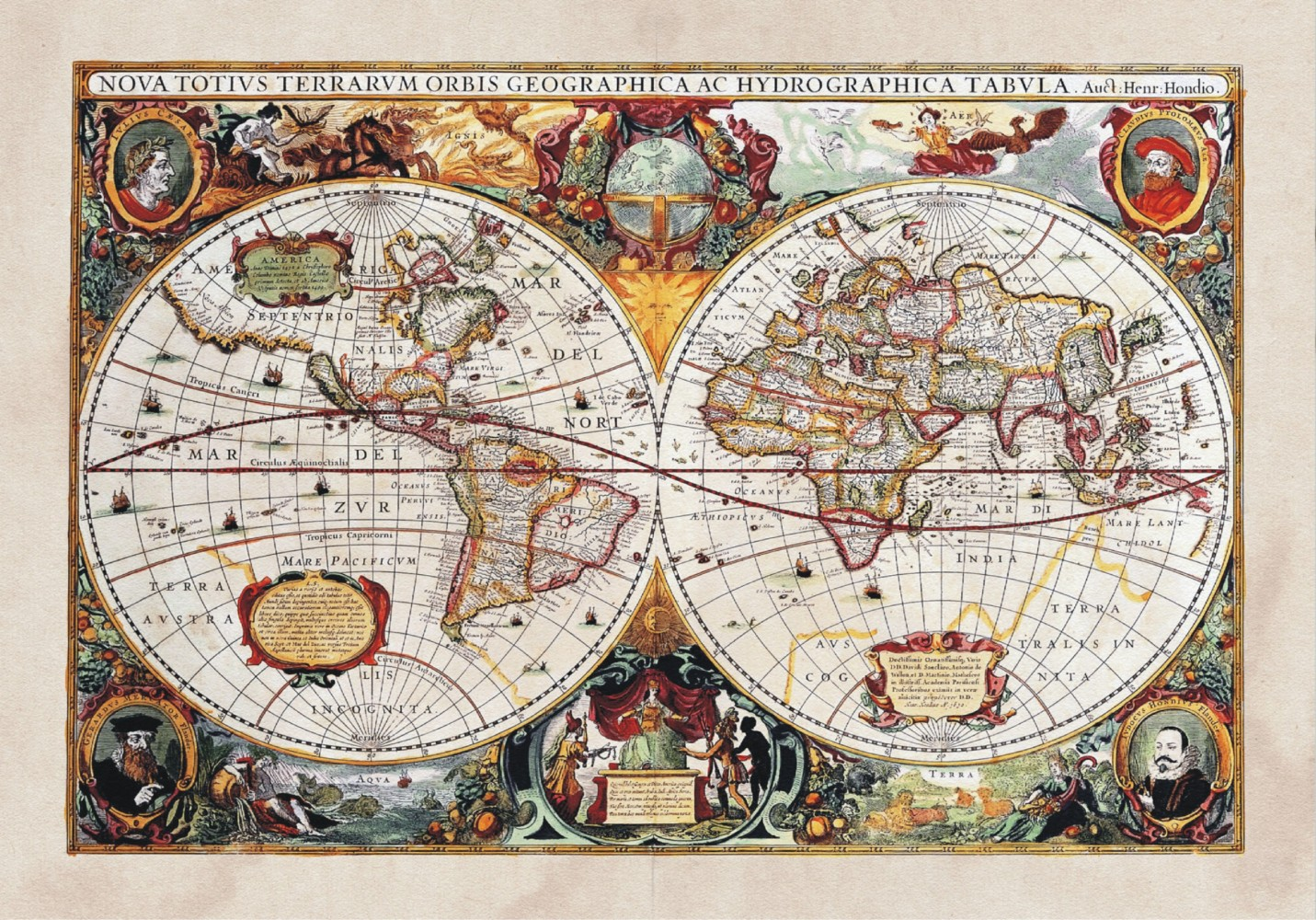 XXL Poster Wall mural wallpaper history world map geography photo 160 1431x1000