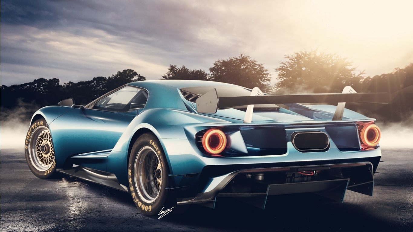 2017 Ford GT Concept Wallpaper HD Car Wallpapers 1366x768