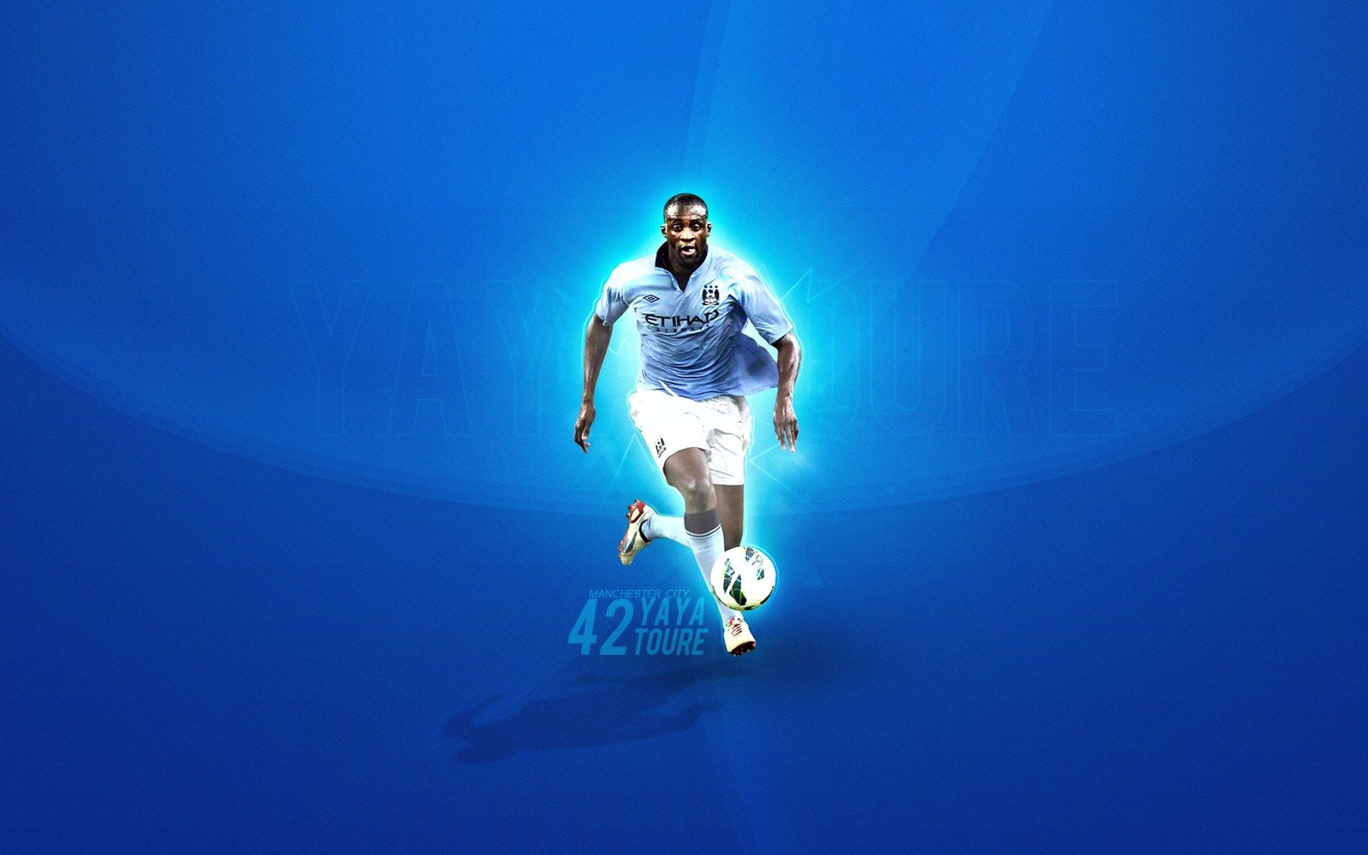 Yaya Toure Manchester City Wallpaper HD Background 1920x1200