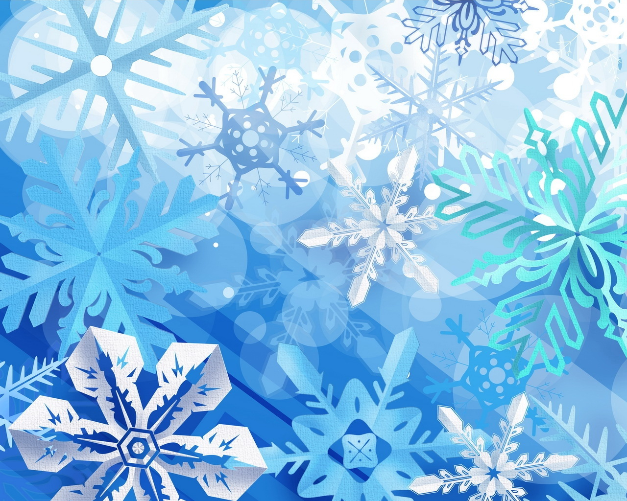 Holiday Winter snowflakes is blue colors in background you can use 1280x1024