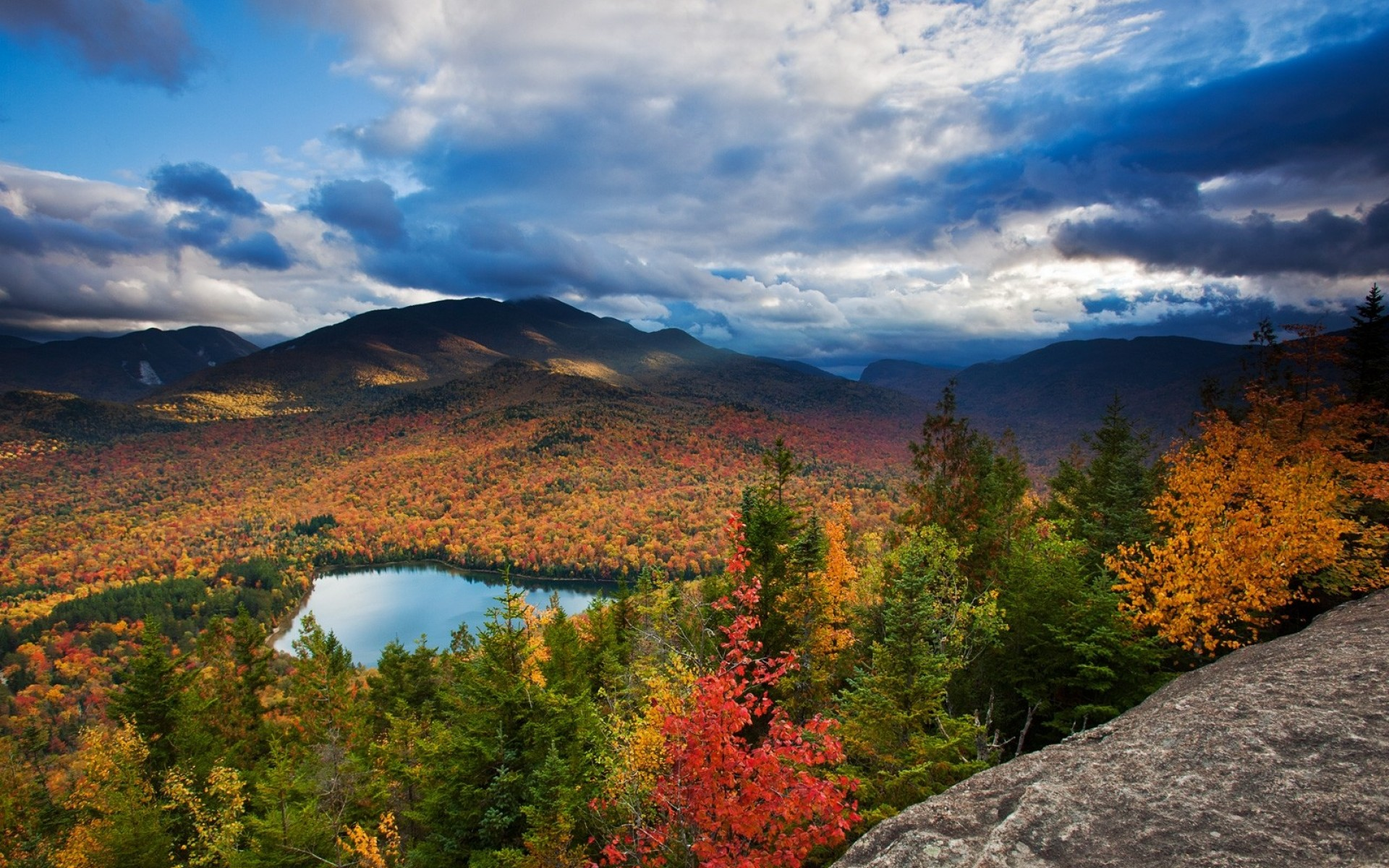SimplyWallpaperscom New York State autumn blue clouds 1920x1200