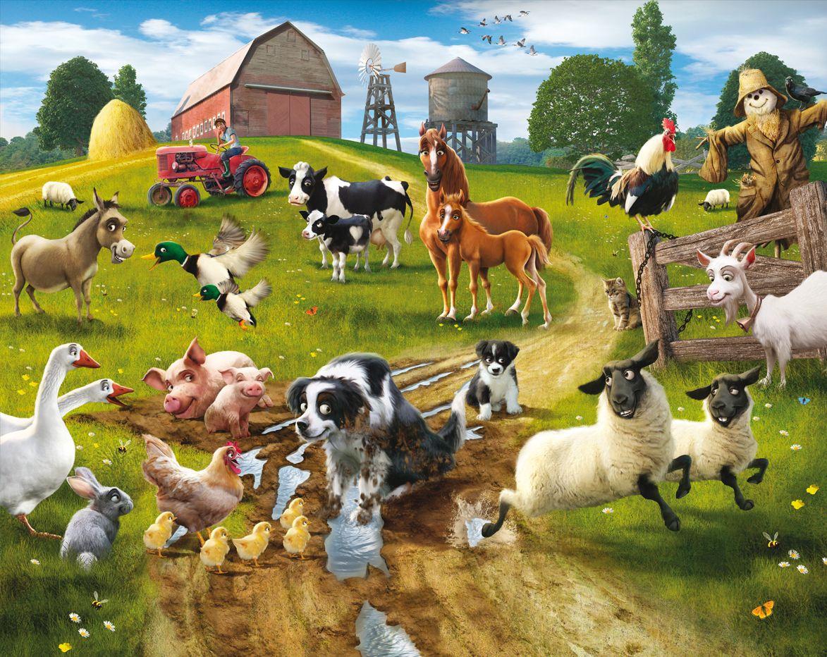 Down On the Farm Wallpaper Mural 1173x932